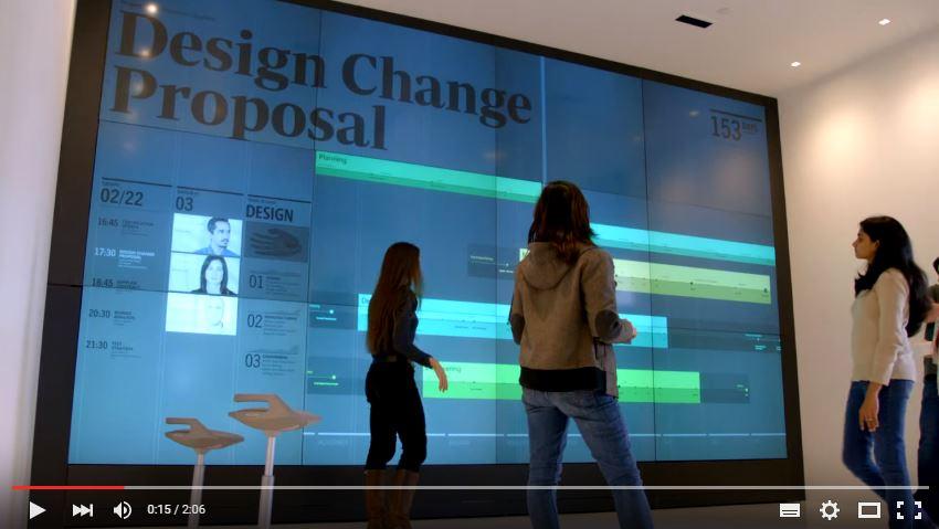 Touchscreen giganti: il futuro immaginato da Microsoft