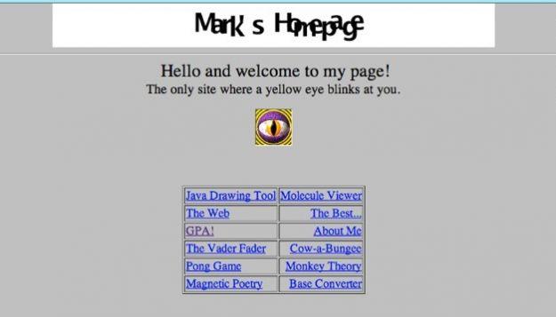 Il primo sito web di Mark Zuckerberg realizzato a 15 anni