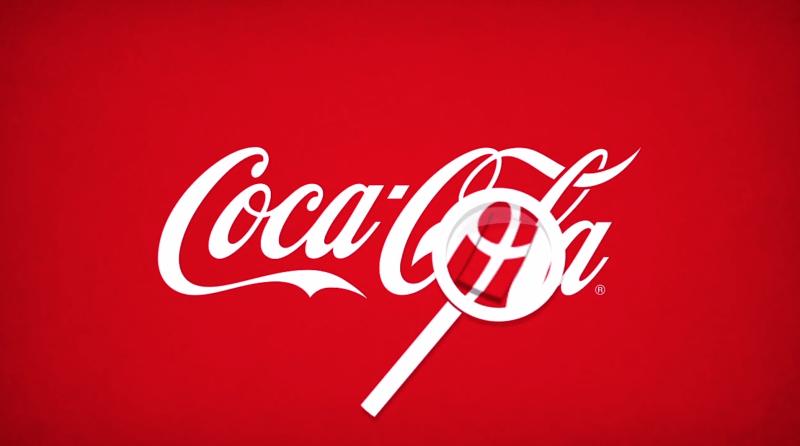 Bandiera Danimarca nascosta nel logo della Coca Cola