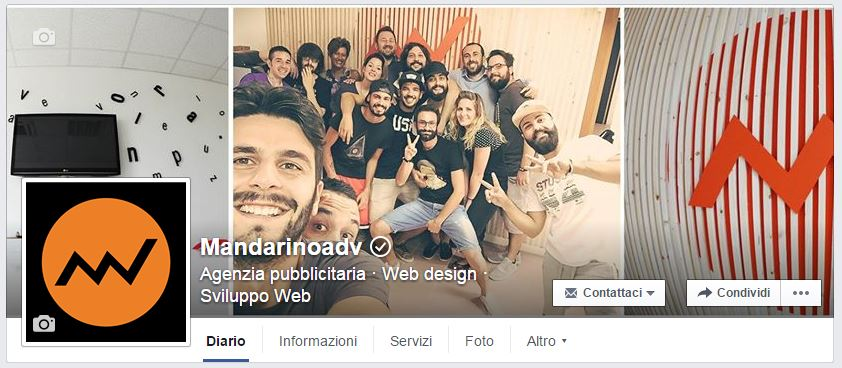 pagina verificata su facebook