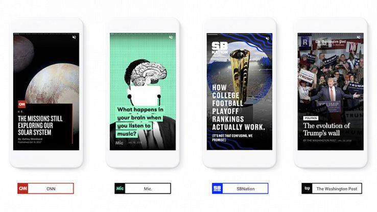 Un aggiornamento di Google permetterà di condividere stories con caricamento veloce grazie alla modalità AMP